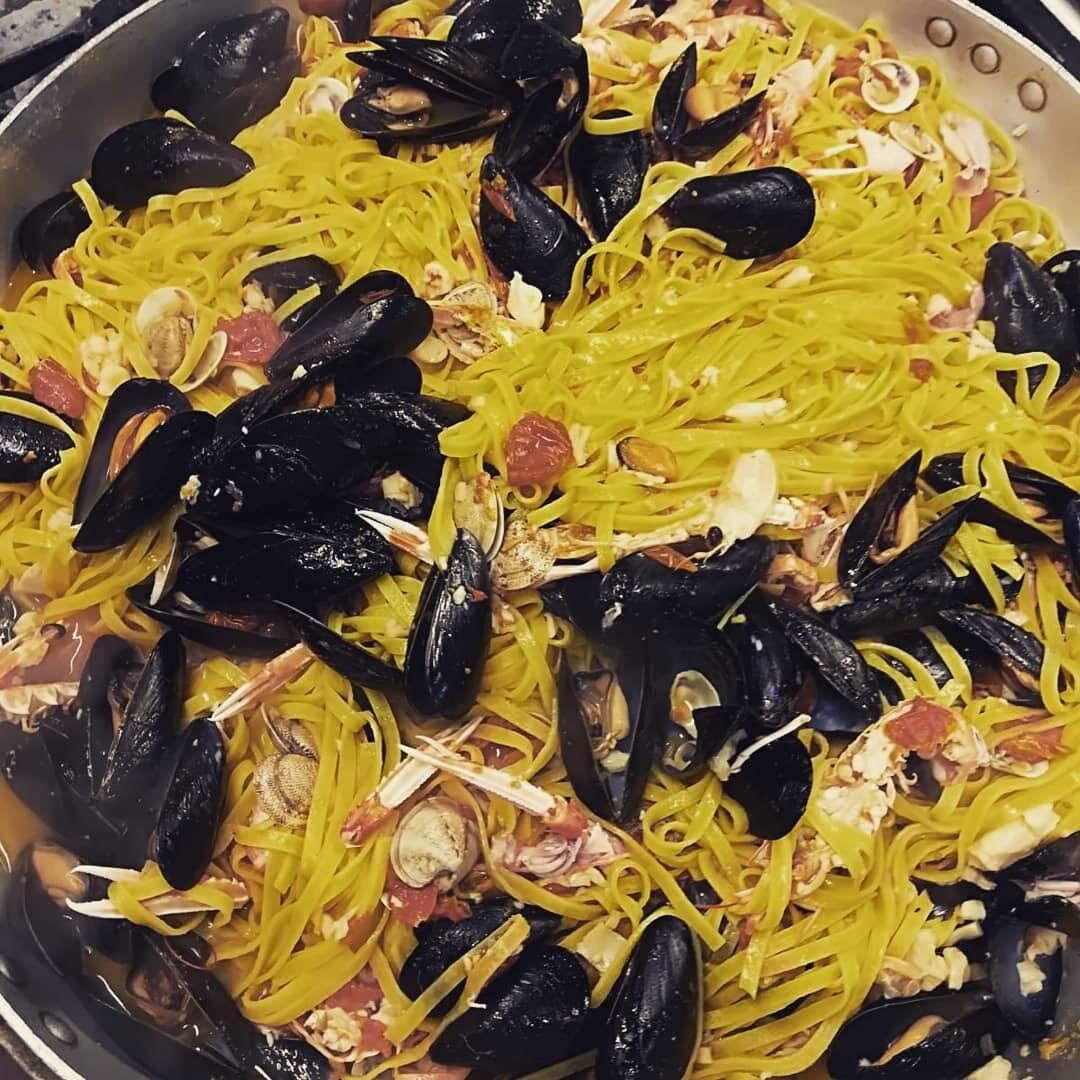 Ristorante Chalet Lido Nordest - Ristorante Di Pesce - Pizzeria - Spiaggia - Mare - Grottammare - San Benedetto Del Tronto - Ascoli Piceno - Marche - Tagliatella Allo Scoglio