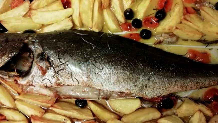 Spigola Con Patate Ristorante Chalet Lido Nordest Ristorante Di Pesce Pizzeria Spiaggia Mare Grottammare San Benedetto Del Tronto Ascoli Piceno Marche 1